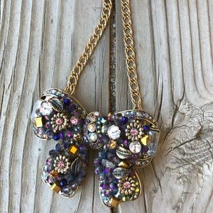 RARE Stunning Betsey Johnson Butterfly Necklace!